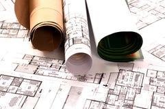 Het project van de architectuur Royalty-vrije Stock Afbeeldingen
