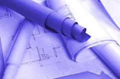 Het project van de architectuur Stock Afbeeldingen