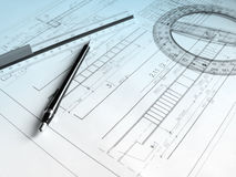 Het project van de bouw Stock Afbeelding