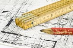 Het project van de bouw Stock Foto