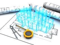 Het project van de bouw royalty-vrije illustratie
