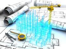 Het project van de bouw vector illustratie