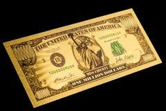 Het project van een Amerikaans bankbiljet is één miljoen dollars Royalty-vrije Stock Foto's