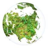 Het projectgebied van het aardeconcept Geïsoleerd wit Stock Foto's