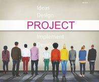 Het projectontwerp voert Ontwikkelingsconcept uit stock foto