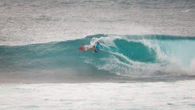 Het prostrand Hawaï van de Surferzonsondergang royalty-vrije stock afbeelding