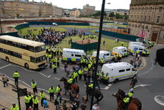 Het protest 28/08/10 van Bradford EDL Stock Foto's