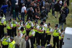 Het protest 28/08/10 van Bradford EDL Stock Fotografie