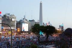 Het Protest Buenos aires, Argentinië van potten & van Pannen Stock Afbeelding