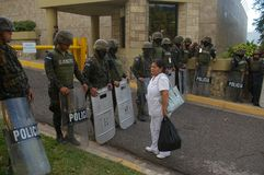 Het Protest 21-2017 December Tegucigalpa Honduras 9 van Honduras Stock Foto