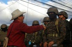 Het Protest 21-2017 December Tegucigalpa Honduras 1 van Honduras Stock Foto's
