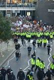 Het Protest en Maart van de student tegen prijsverhogingen. Stock Fotografie