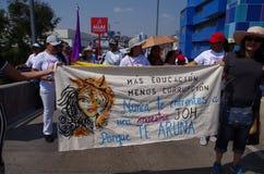Het protest maart Tegucigalpa Honduras Mei 2019 7 van de arbeidsdag royalty-vrije stock foto