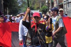 Het protest maart Tegucigalpa Honduras Mei 2019 1 van de arbeidsdag royalty-vrije stock afbeeldingen