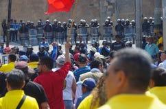 Het protest maart Tegucigalpa Honduras Mei 2019 2 van de arbeidsdag stock afbeeldingen