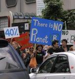 Het protest maart van de Verandering van het klimaat royalty-vrije stock foto's