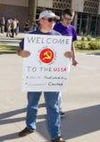 Het Protest van Arizona van Obama stock afbeeldingen