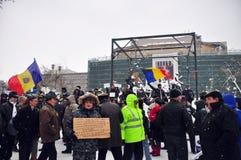 Het Protest van Boekarest - 15de dag 15 Stock Afbeeldingen