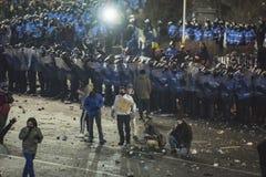 Het protest van Boekarest tegen de overheid Royalty-vrije Stock Foto
