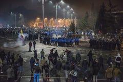 Het protest van Boekarest tegen de overheid Stock Afbeelding