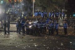 Het protest van Boekarest tegen de overheid Stock Foto