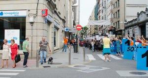 Het protest van de bank 15M Royalty-vrije Stock Foto's