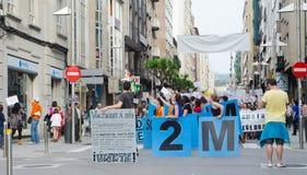 Het protest van de bank Stock Foto