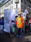 Het protest van de Dag van de bevrijding in Milaan, Italië, Stock Afbeeldingen