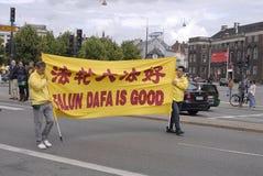 HET PROTEST VAN DE GONG VAN DENEMARKEN FALUN TEGEN CHINA Royalty-vrije Stock Afbeelding