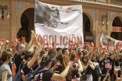 Het Protest van de groep Royalty-vrije Stock Fotografie