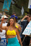 Het Protest van de oliemorserij Stock Fotografie