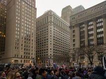 Het Protest van de post-inauguratietroef in Daley Plaza, Chicago royalty-vrije stock afbeeldingen