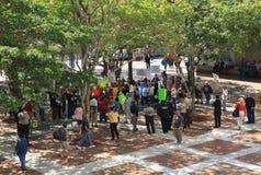 Het Protest van de Schuilplaats Miami-Dade Stock Foto