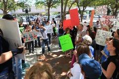 Het Protest van de Schuilplaats Miami-Dade Stock Fotografie