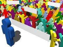 Het protest van de staking Stock Foto