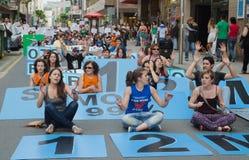 Het protest van de straat Stock Afbeeldingen