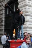 Het Protest van de strengheid in Londen royalty-vrije stock afbeelding