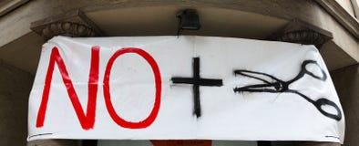 Het protest van de strengheid in Spanje Royalty-vrije Stock Afbeelding