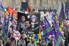 Het Protest van de Strengheid van Londen stock foto