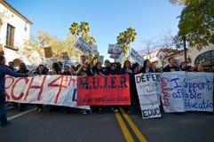 Het Protest van de student in Kerstman Barbara, CA Royalty-vrije Stock Foto