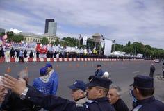 Het protest van de Unie Stock Fotografie