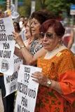 Het Protest van de Verkiezing van Mexico-City royalty-vrije stock fotografie