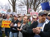 Het Protest van de visserij bij het Kapitaal Royalty-vrije Stock Foto