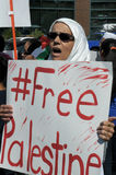 Het Protest van Gaza Royalty-vrije Stock Afbeeldingen