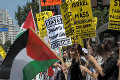 Het Protest van Gaza Stock Foto
