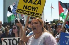 Het Protest van Gaza Stock Foto's