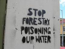 Het protest van Graffiti Stock Foto's