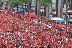 Het Protest van het rood-overhemd in Bangkok Royalty-vrije Stock Afbeeldingen