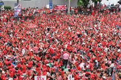 Het Protest van het rood-overhemd in Bangkok Royalty-vrije Stock Fotografie