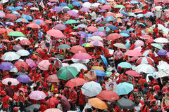 Het Protest van het rood-overhemd in Bangkok Royalty-vrije Stock Foto